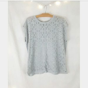 Old Navy blue lace blouse